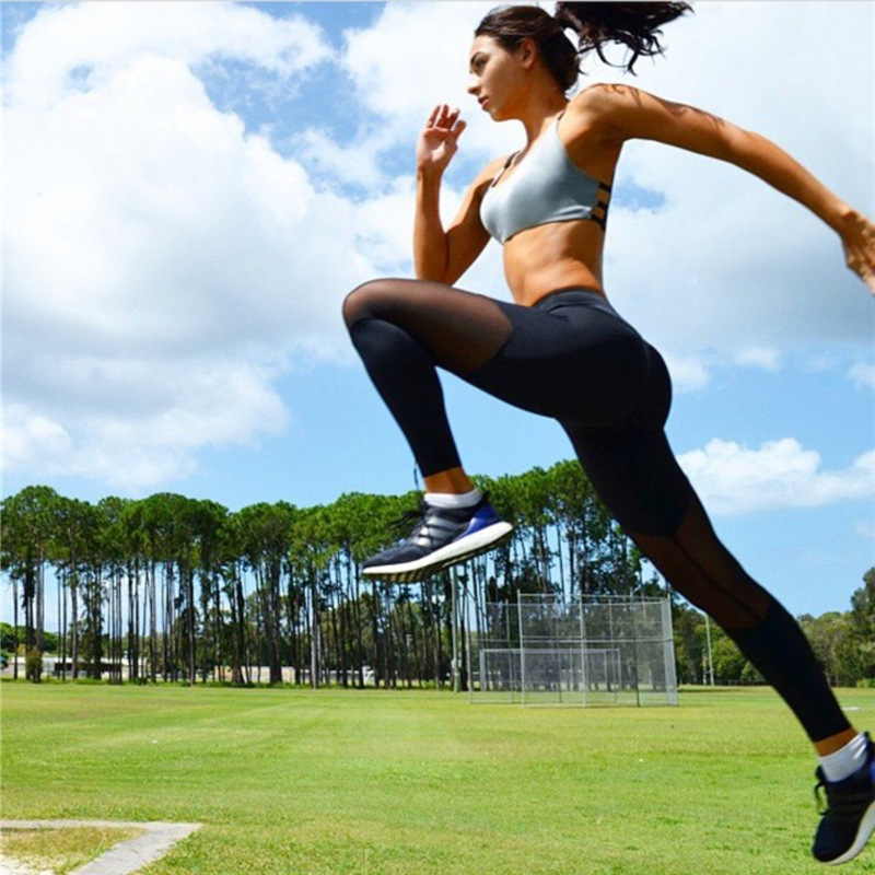 Yel 2017 niñas gimnasio larga pantalones flacos basculador corriendo pantalones