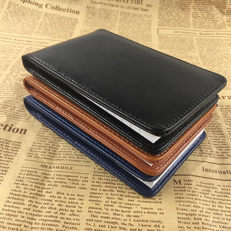 RuiZe Multifunctionele kleine notebook A7 planner lederen zak - Notitieblokken en schrijfblokken bedrukken - Foto 5