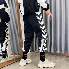 Men Plus Size Casual Black White Stripe Printed Men Pants Streetwear Loldeal Purple Sweatpants Hip Hop Pants Leisure Trousers size 32 44 hip hop pants plus size jeans leisure sports in men s trousers in europe and the men trousers