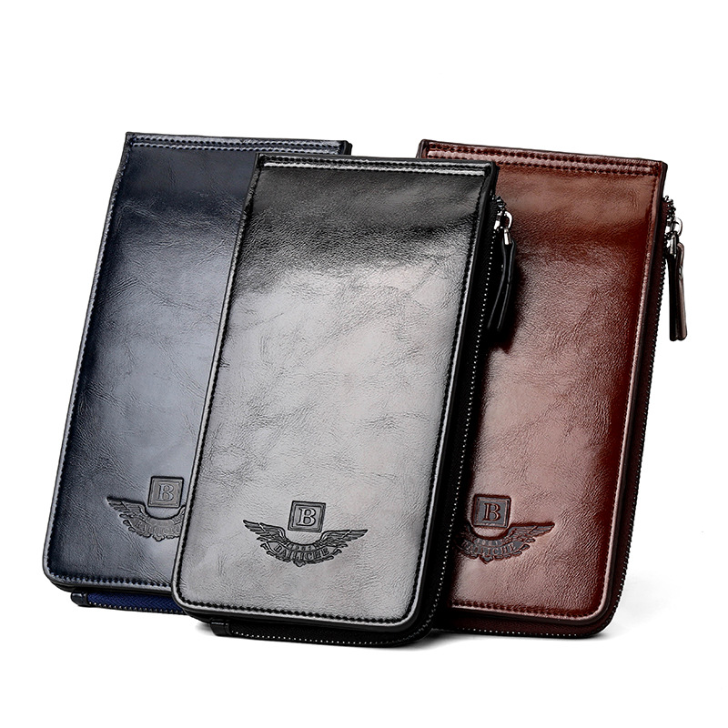 28 Card Slots Genuine Leather Card Holder Wallets Luxury Gift Oil Wax Cow Leather Purse Zipper Credit Card Case Coin Purse 2018 стоимость