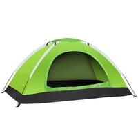 Outdoor waterproof camping tent wear resistant UV travel tent two doors one window climbing fishing wild survival one bedroom