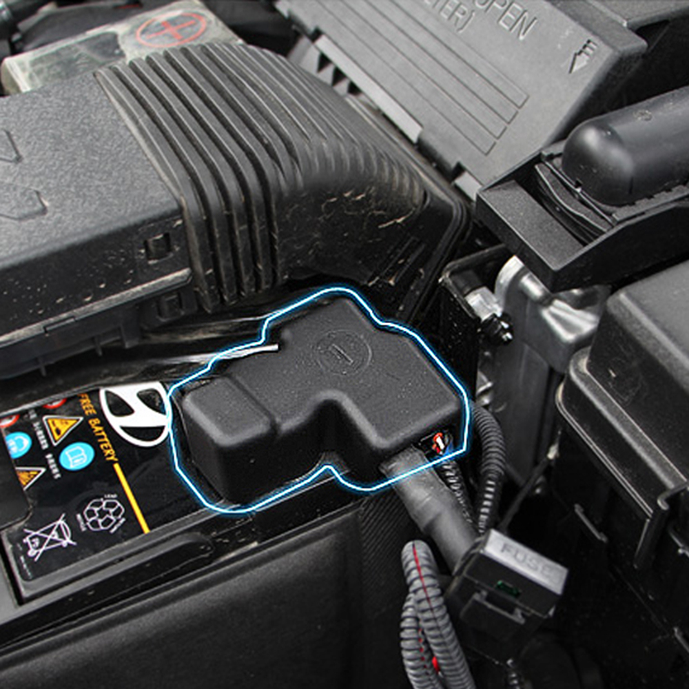 """Car Battery Negative """"-"""" Protection Waterproof Cover Frame Clip Case Plastic 1PC For Hyundai Tucson 2016 2017"""