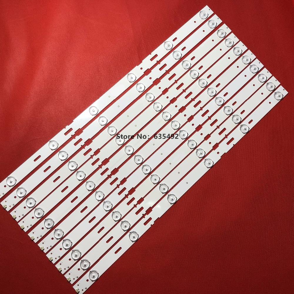 100% New 10pcs/Kit LED Strips For GRUNDIG 48 TV 48VLE5520 48VLE5520BG LSC480HN05 SAMSUNG 2013ARC48 3228N1 6 REV1.1 140509