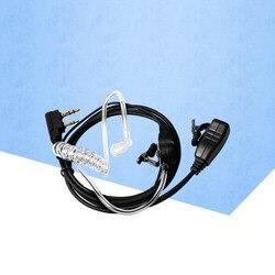 KSUN воздушная акустика трубка Динамик гарнитуры с «нажми и говори» и микрофон для Kenwood HYT Puxing WOUXUN Baofeng двухстороннее радио