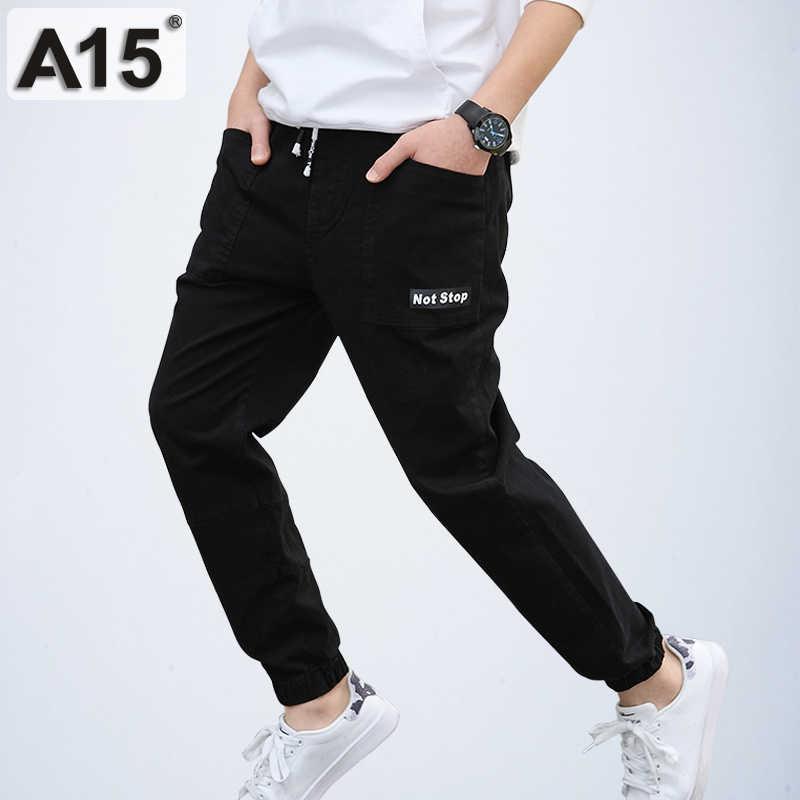 A15 штаны для больших мальчиков повседневные брюки из хлопка малышей спортивные