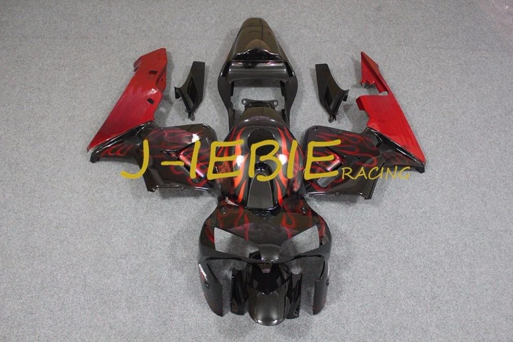 Black red fire Injection Fairing Body Work Frame Kit for HONDA CBR600RR CBR 600 CBR600 RR F5 2003 2004