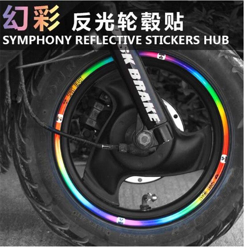 SPIRIT BEAST Motorcycle Tire Stickers Reflective Stickers Decals Motorcycle Reflex 10 12 18inch wheels in Decals Stickers from Automobiles Motorcycles