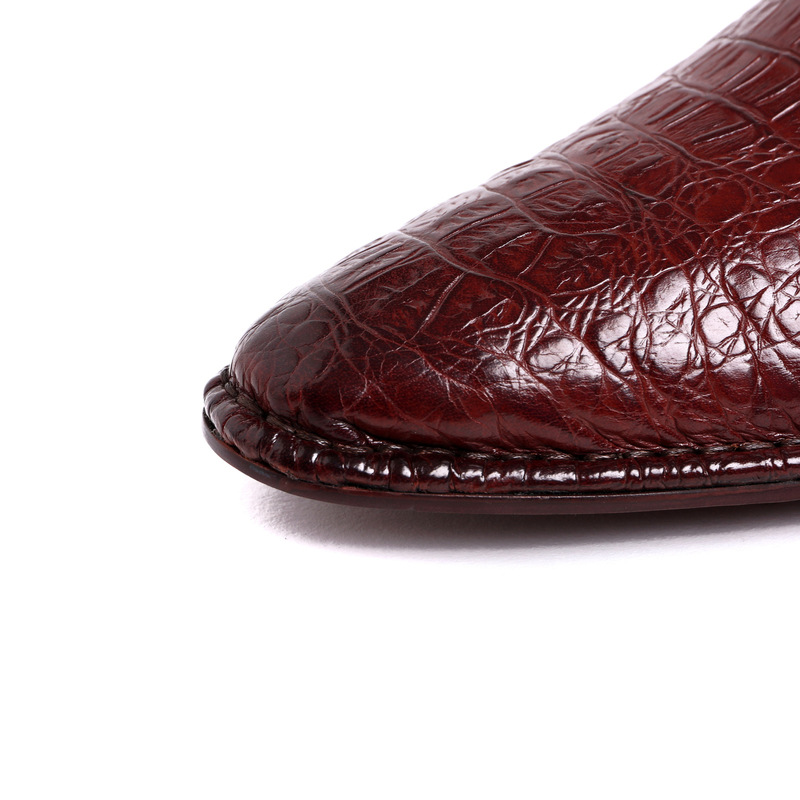 Vestido Crocodilo Dos Formal Novas Cavalheiro Pontudos vermelho Sapatos Negócios Chegadas Genuíno Qyfcioufu Homens Vinho Padrão Preto Couro De Y6Evqwx