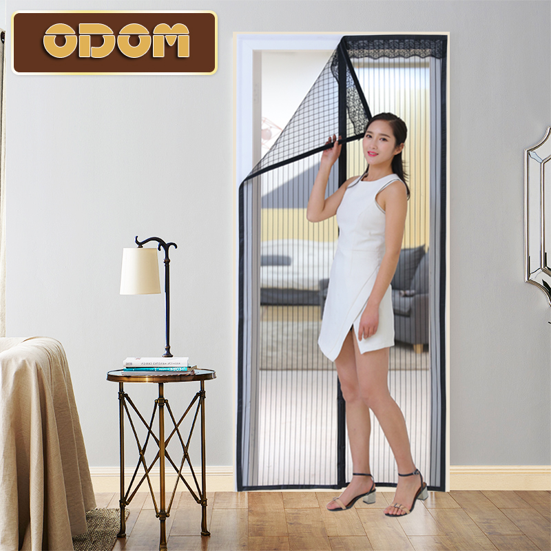 Velcro anti-mosquito curtains high quality summer magnetic net mesh screens door Magic Hands-free Door Curtain  Window Screens