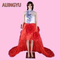 AIJINGYU 2017 חדש משלוח חינם סקסי נשים ילדה שמלות כלה שמלת כלה טובה sy491