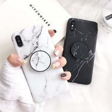 SUYACS Phone Case For iPhone 6 6S 7 8 Plus X XS MAX XR Fashion Marble Teenage Style Soft IMD Graphic Phone Case Cover Shells Bag