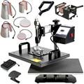 T-shirt máquina de impresión de prensa de calor combinado máquina de impresión de prensa de calor 8 en 1 combo prensa del calor de la máquina de impresión