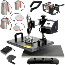 t-shirt heat press printing machine combo heat press printing machine 8 in 1 combo heat press printing machine