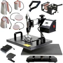 t-shirt heat press printing machine combo heat press printing machine 8 in 1 combo heat press printing machine