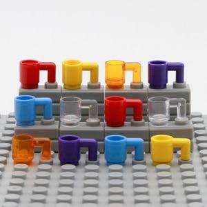 Image 5 - City Accessories Bottle Basket Building Blocks Green Grey Transparent Beer Cup Brown Parts Bricks Toys Kids Compatible Friends