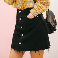 High Street Fashion Sweet Women Mini Short Denim Jeans Skirt 2018 Spring Stretch High Waist Black