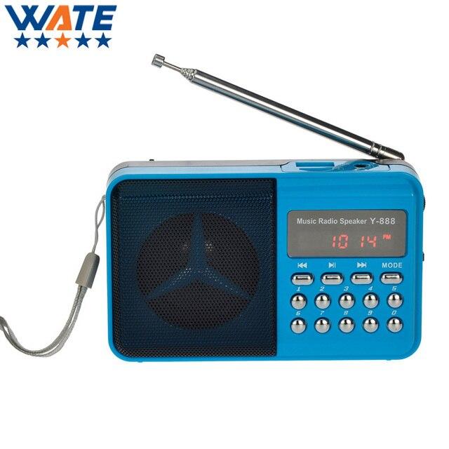 110 FM Портативный ЖК-Цифровой Дом Радио Диктор Радио Приемник с 3.5 мм гнездо для Наушников 3 Цвет Бесплатная доставка