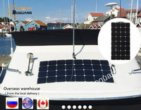 95W Factory Direct Semi Flexible Solar Panel Solar Module For RV Boat Golf Cart Marine Yachts