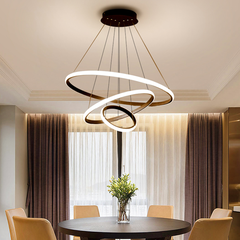 Best Hot Black/White/Coffee Color Modern led Chandelier for living room dining room Aluminum 90-265V chandelier fixturesBest Hot Black/White/Coffee Color Modern led Chandelier for living room dining room Aluminum 90-265V chandelier fixtures