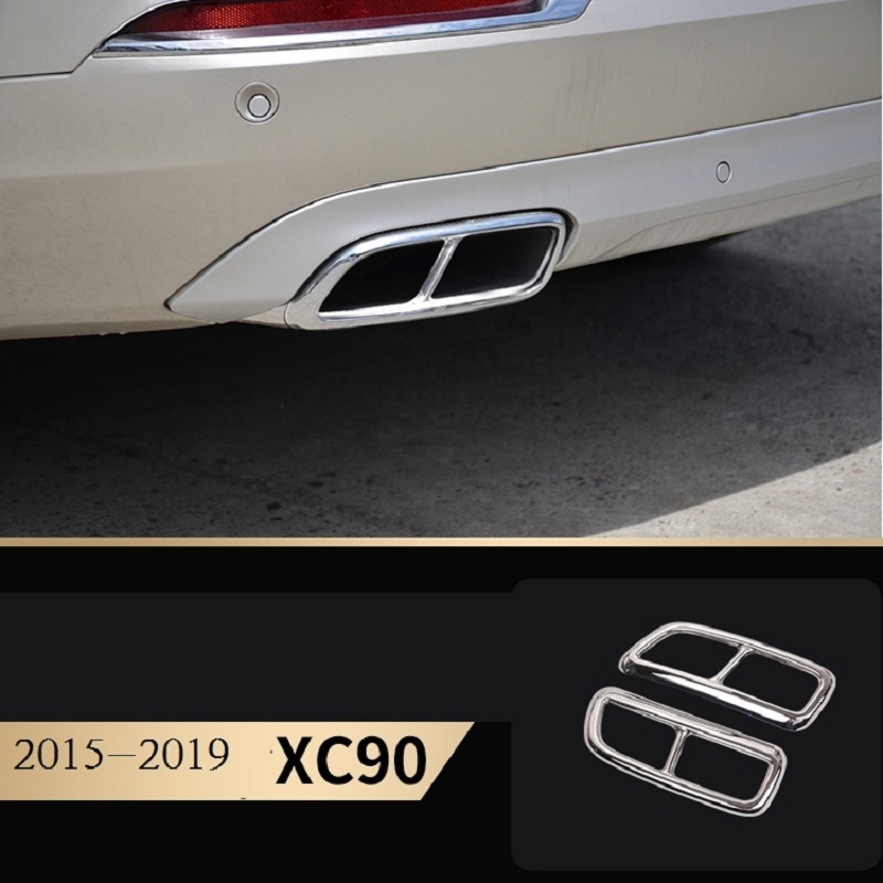 car accessories for Volvo 2015 2019 xc90 model exhaust pipe tail stainless steel tail throat decorative