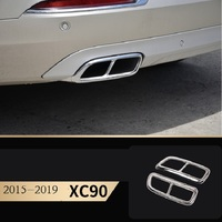 car accessories for Volvo 2015 2019 xc90 model exhaust pipe tail stainless steel tail throat decorative cover car stickers