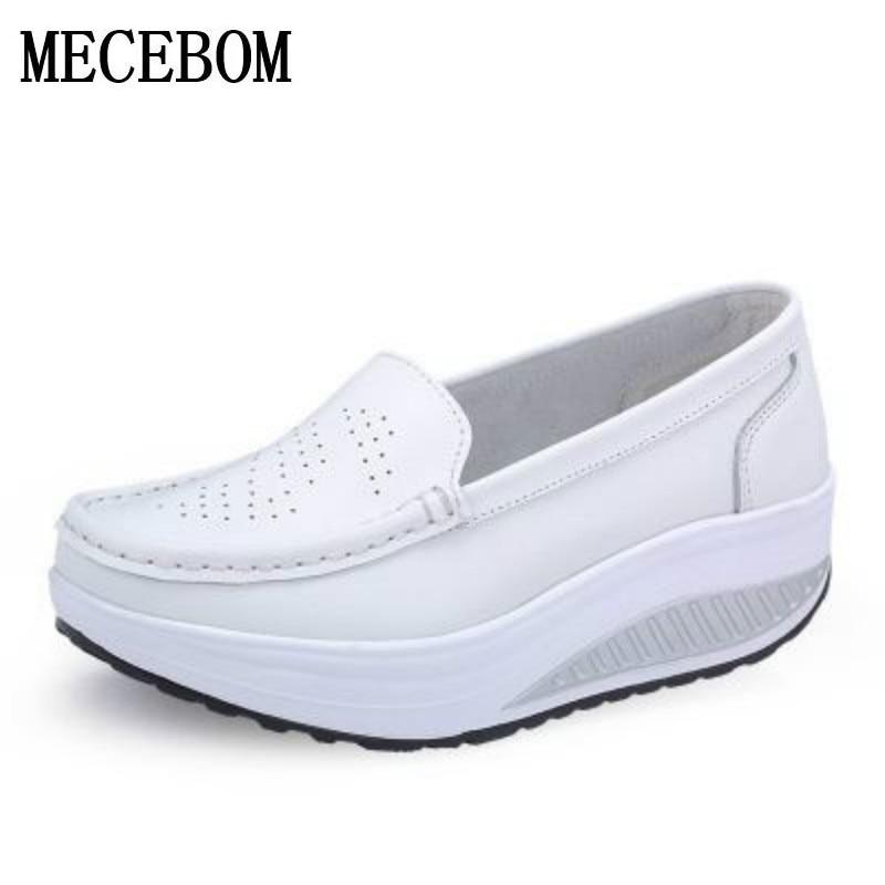 Zapatos de las mujeres de cuero de moda casual zapatos de las mujeres de Fitness