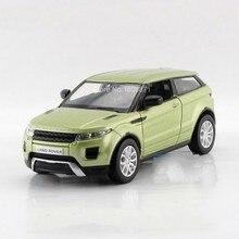 Livraison gratuite enfants uni – fortune Range Rover Evoque modèle de voiture 1:36 5 polegada Diecast Metal voitures en alliage jouet tirez enfants cadeau