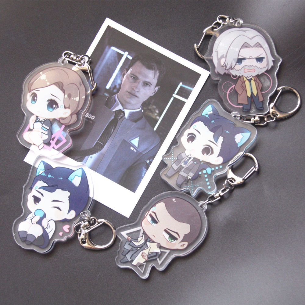 Game Detroit: Become Human Acrylic Keyring Keychain Two Sided Key Chain