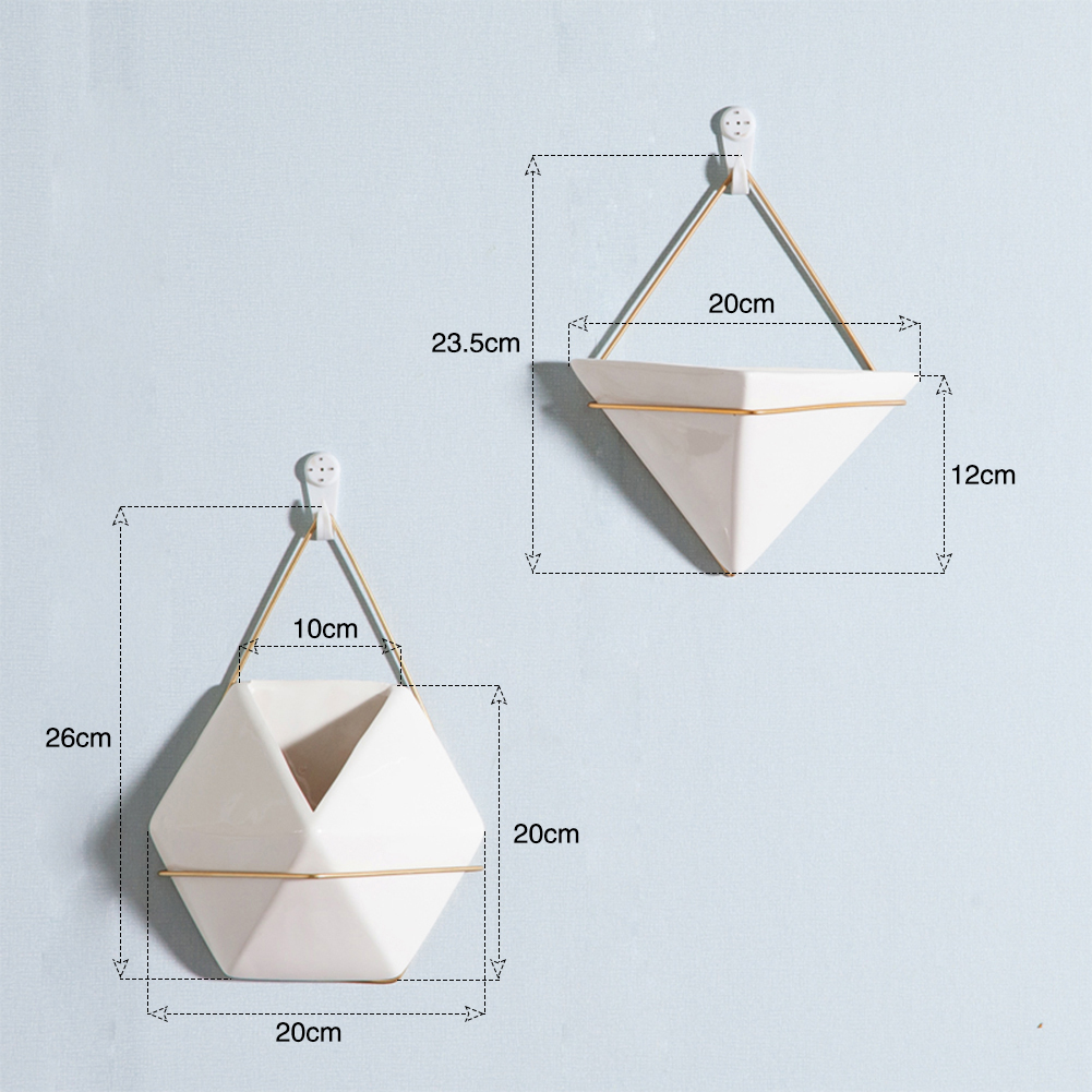 Handmade Geometric triangle Silicone Flower Pot Mold Succulent Vase Z~GN