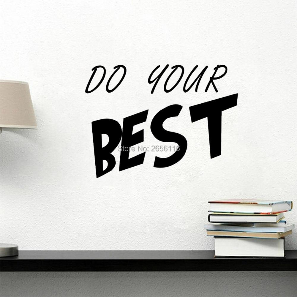 Do Your Best Wall Decals Motivational Words Lettering Vinyl Stickers Home Office Decoration