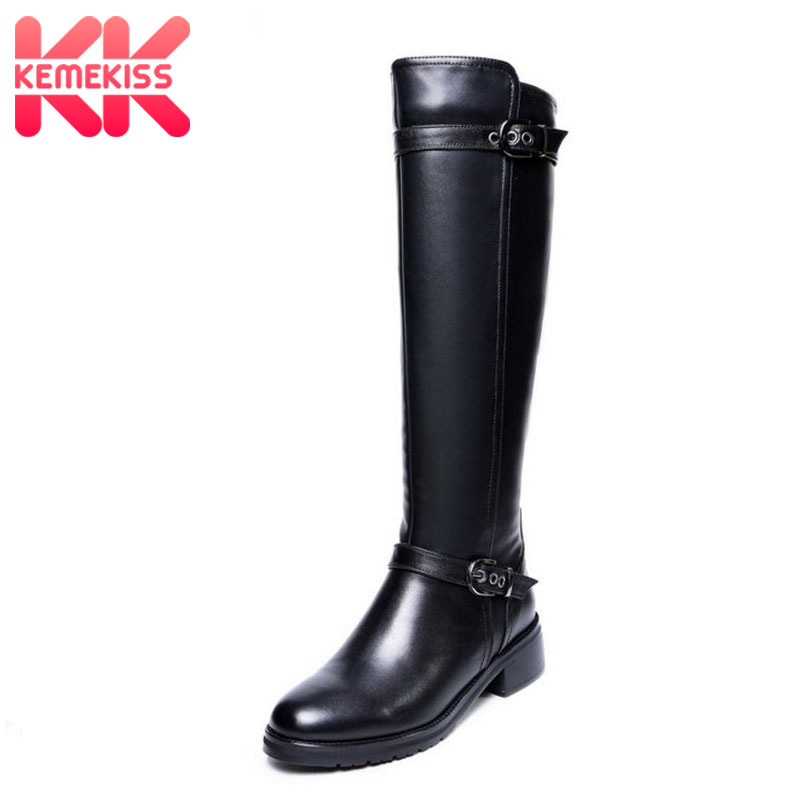 KemeKiss size 33-43 women real genuine leather british style flat over knee boots riding long boot brand footwear shoes R8031 women real genuine leather height increasing over knee boots fashion long boot winter bota brand footwear shoes r7415 size 33 40