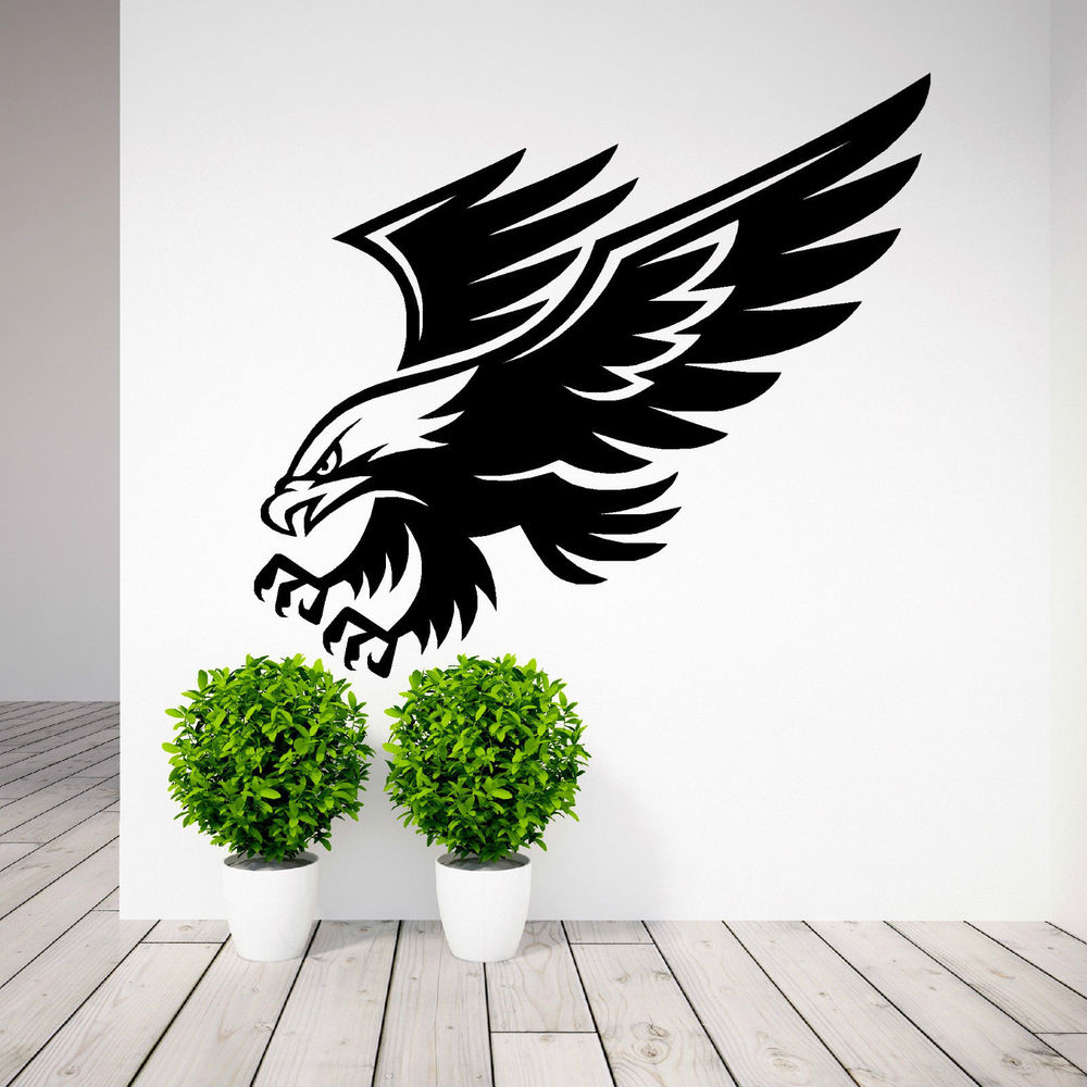 compare prices on wall murals stencils online shopping buy low american eagle bird of prey wall art sticker decal stencil animal mural bedroom wall decals home
