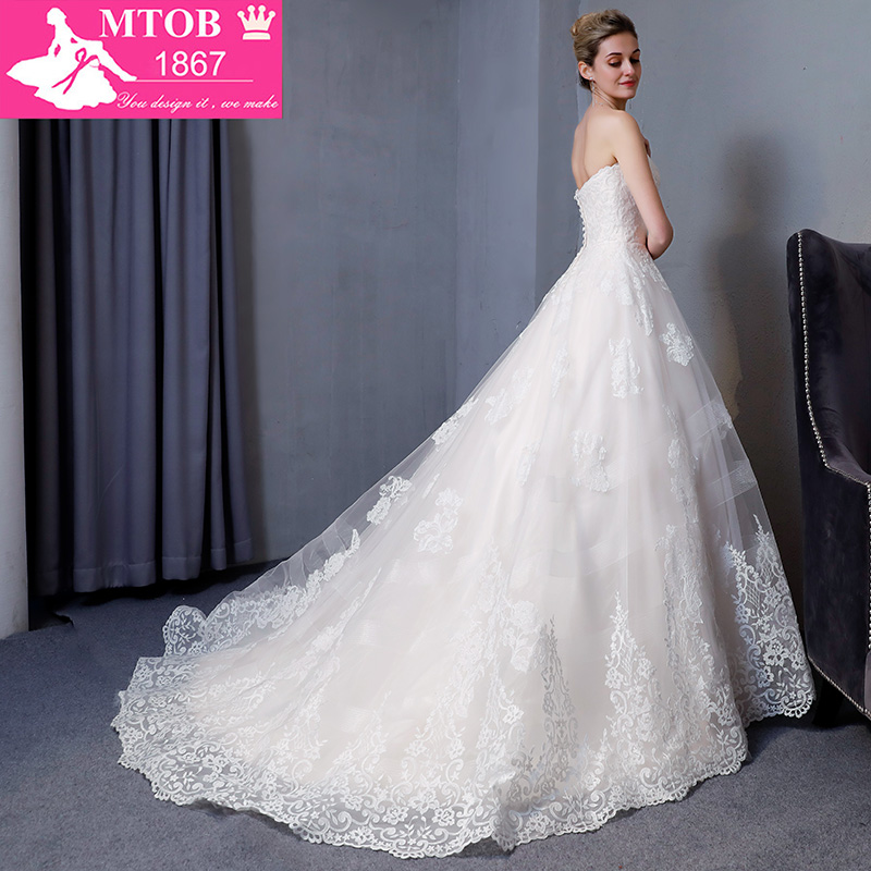 Image 4 - New Design A Line Lace Wedding Dresses 2018 Sweetheart backless Elegant Sexy Vintage Wedding Gowns China Online Shop MTOB1817Wedding Dresses   -