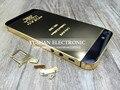 Для Iphone 5 5S 24 K 24Kt 24Ct Limited Edition Золото Стекло Замена Ближний Рамка Назад Крышку Корпуса ЛОГОТИП и Выгравированы Слова