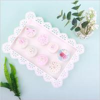 Europe white storage trays Lace food serving Cake/snack/kitchen tray dessert table decoration Cosmetic decoration tray SNTP055