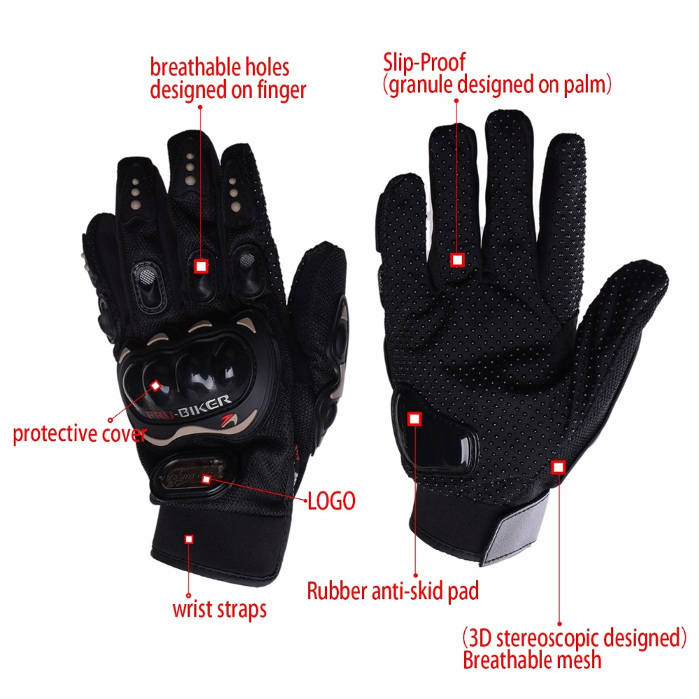 Mens gloves summer - 3 Color Motorcycle Gloves Summer Breathable Wearable Racing Gloves Knight Leather Ride Bike Driving Bmx Atv