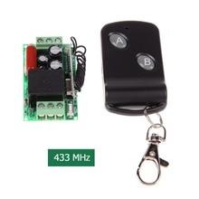 New 220V 315MHz/433MHz Small Remote Control Switch with 2 Button Remote Control uzaktan kumanda telecomando cancello
