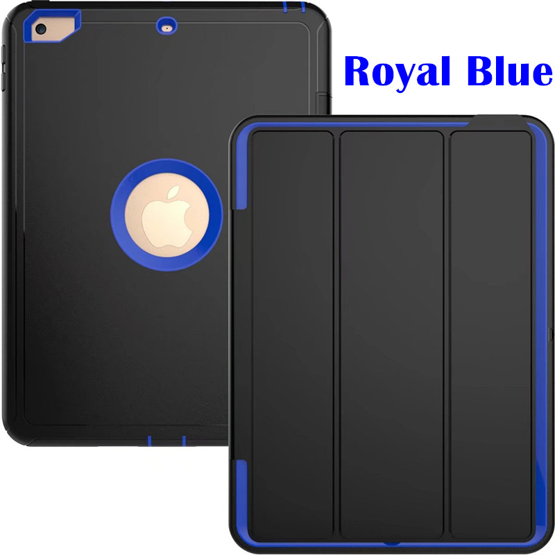 Royal Blue Heavy smart case with 3stand for iPad 9.7 (2017, 2018, A1822, A1893)