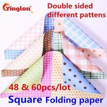 Складывающаяся бумага ручной работы, двухсторонняя, различные бумажные оригами, смешанные цветы в горошек, цветная бумага DIY, квадратные Бумажные краны оригами