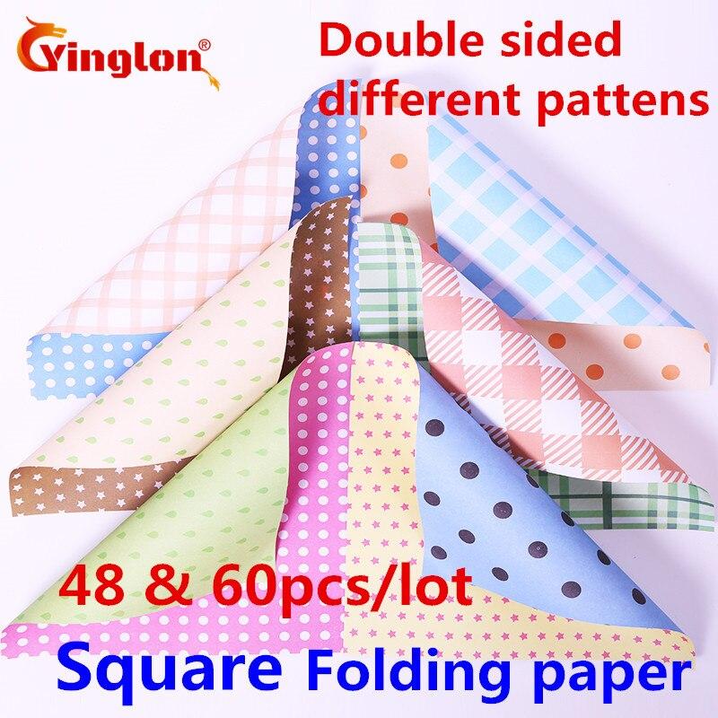 Ofis ve Okul Malzemeleri'ten Fotokopi kağıdı'de Katlanır kağıt el yapımı Çift taraflı farklı desenler origami kağıt mix çiçekler nokta renkli kağıt DIY kare kağıt vinçler origami title=