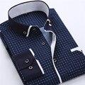 Men Dress Shirt 2017 Spring New Arrival Button Down Collar High Quality Long Sleeve Slim Fit Mens Business Shirts S-4XL YN026