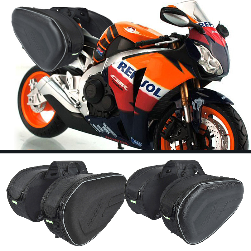SSPEC Waterproof Motorcycle Reflective Luggage Bags Top Case Knight Rider Motocross Back Seat Riding Bag Road Touring Top Case