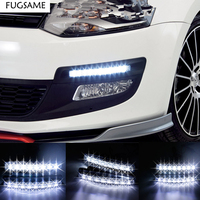 Discount 2pcs 1pair Super White 8LEDs Universal Car Light LED Daytime Running Head DRL Light Free