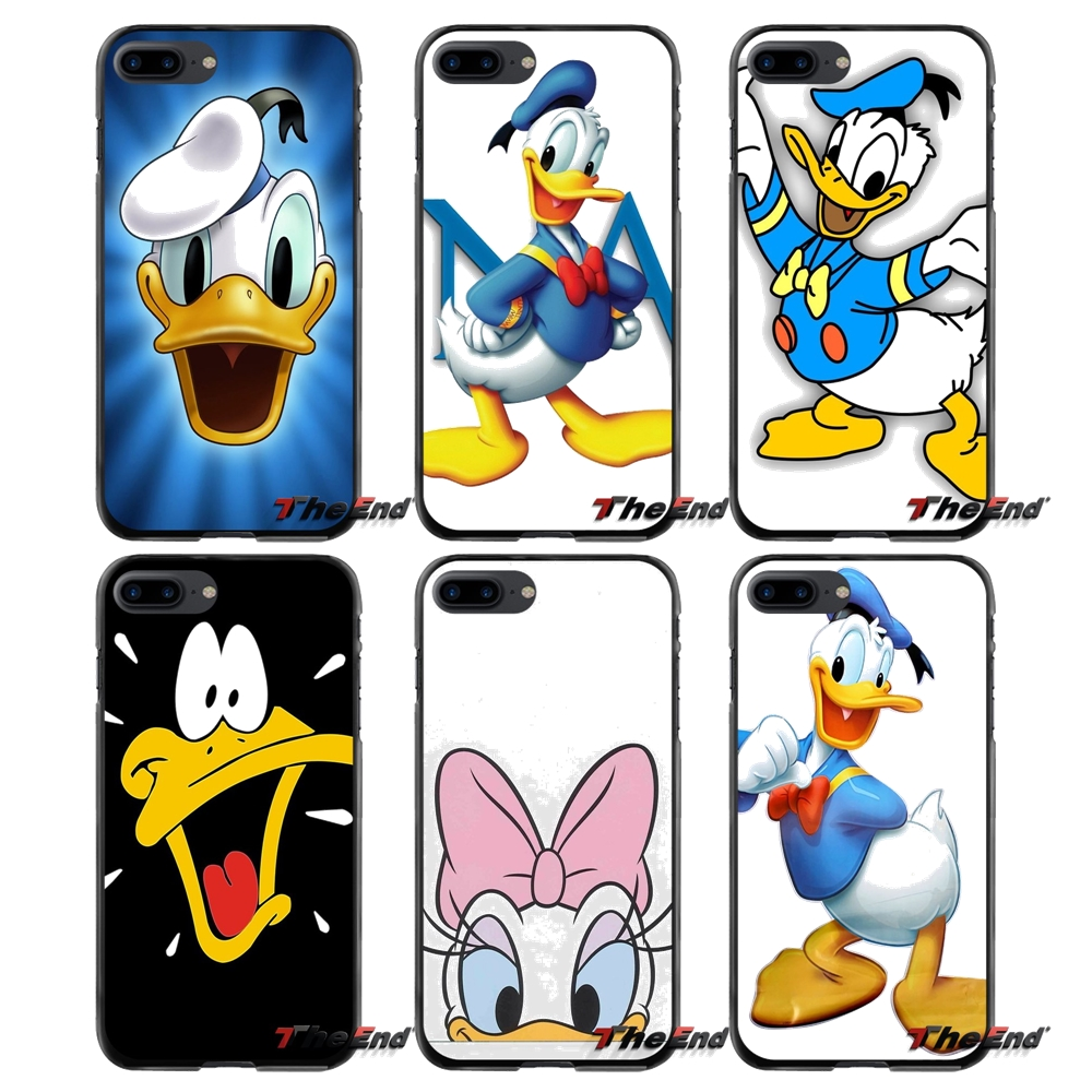 For Apple iPhone 4 4S 5 5S 5C SE 6 6S 7 8 Plus X iPod Touch 4 5 6 Accessories Phone Cases Covers Cartoon Duck