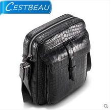 2019 cestbeau crocodile belly male bag business casual single shoulder slanting men  bag without splicing whole leather male bag kamicy 2018 new style lady messenger bag slanting bag single shoulder bag slanting span simple leather large capacity women bag