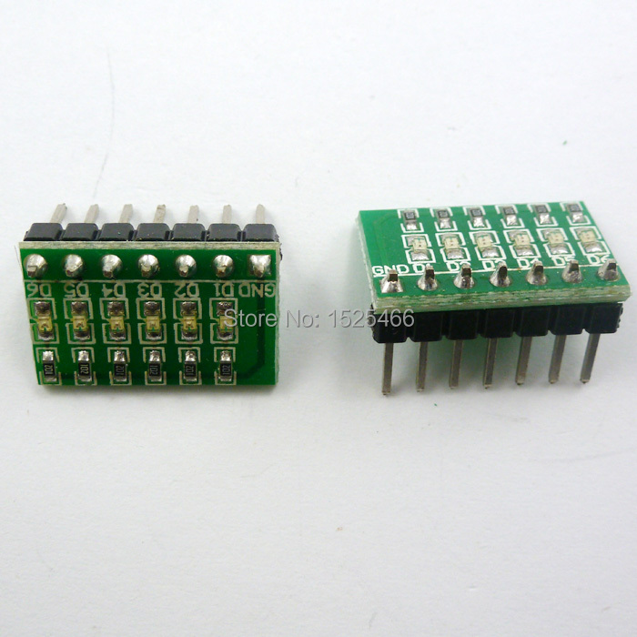 Image 2 - 5pcs DC 3 12V 6 bit Multicolor LED Module Board for Arduino DUE UNO MEGA2560 MEGA  Leonardo Tre Zero Ethernet Shield 3d printer-in LED Displays from Electronic Components & Supplies