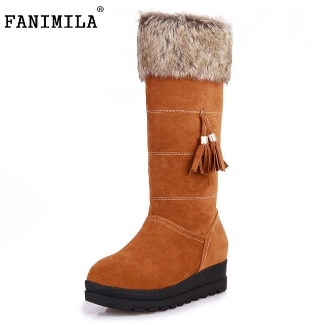 Size 34-39 Gladiator Snow Boots Women Square Heels Half Short Boot Ladies Warm Plush Winter Half Knee Boots Shoes