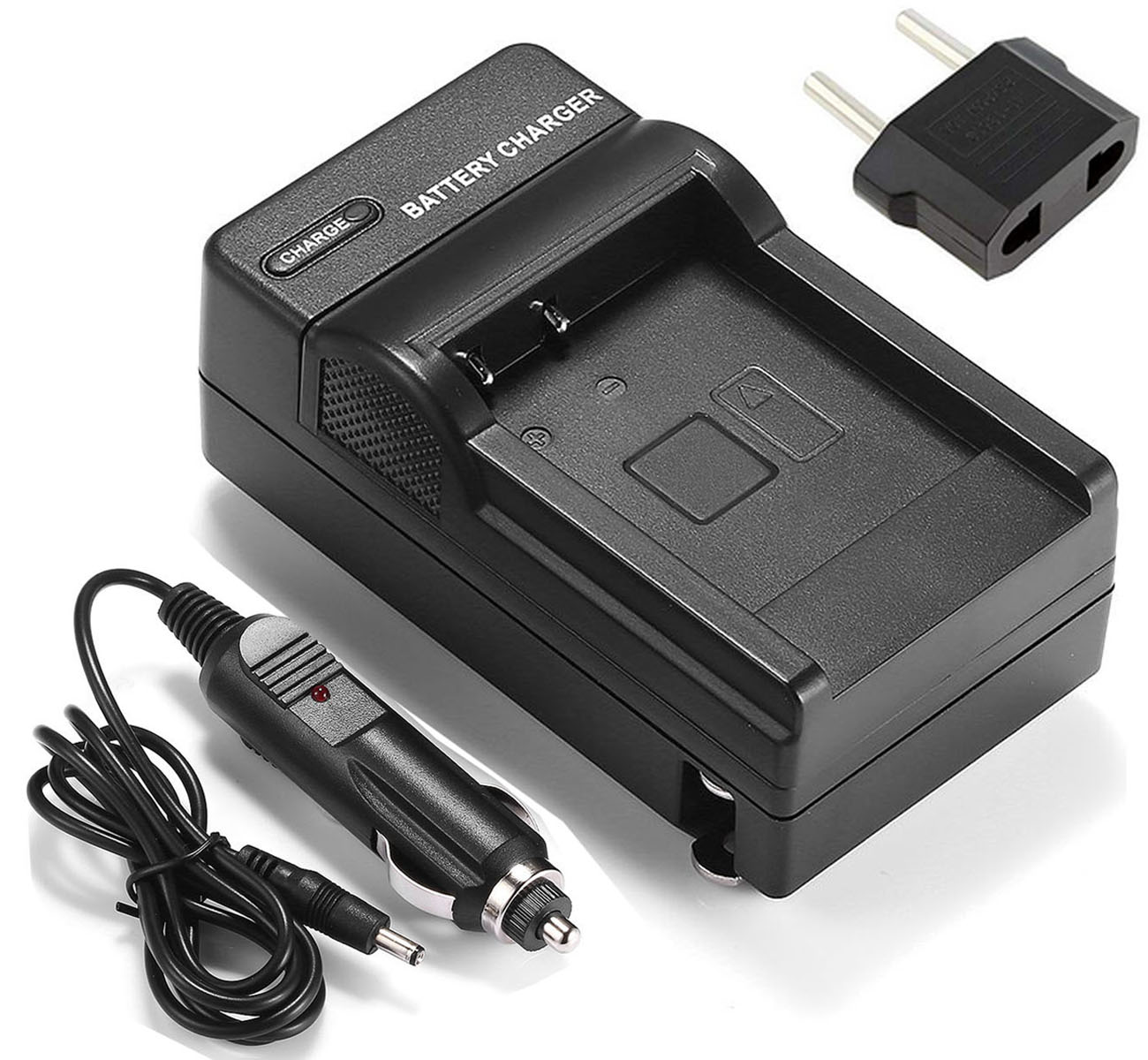 USB Dual Battery Charger for Canon FS100 FS200 FS300 FS400 Flash Memory Camcorder