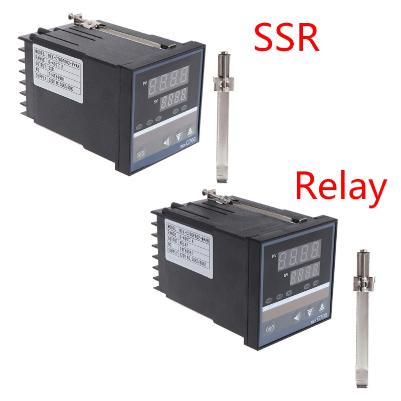 220V Temperature Controller REX-C700 Universal Input Relay SSR Output Thermostat-m35