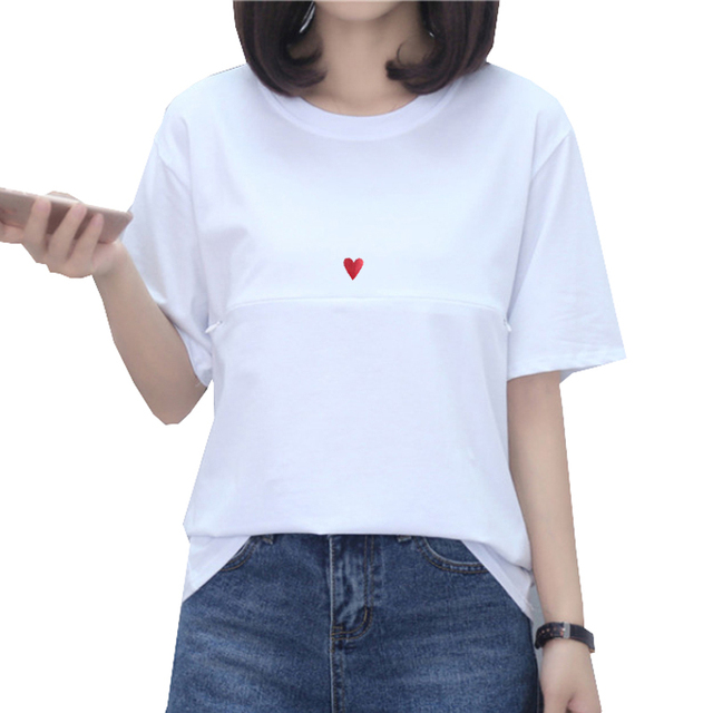 40ecf4758c7d1 Maternity Casual Nursing T Shirt Top Breastfeeding Nurse Cotton Tops Clothes  for Pregnant Women Short/Long Sleeve 28 Patterns